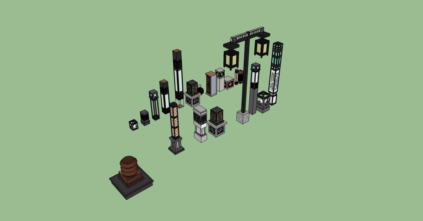 中式灯柱合集