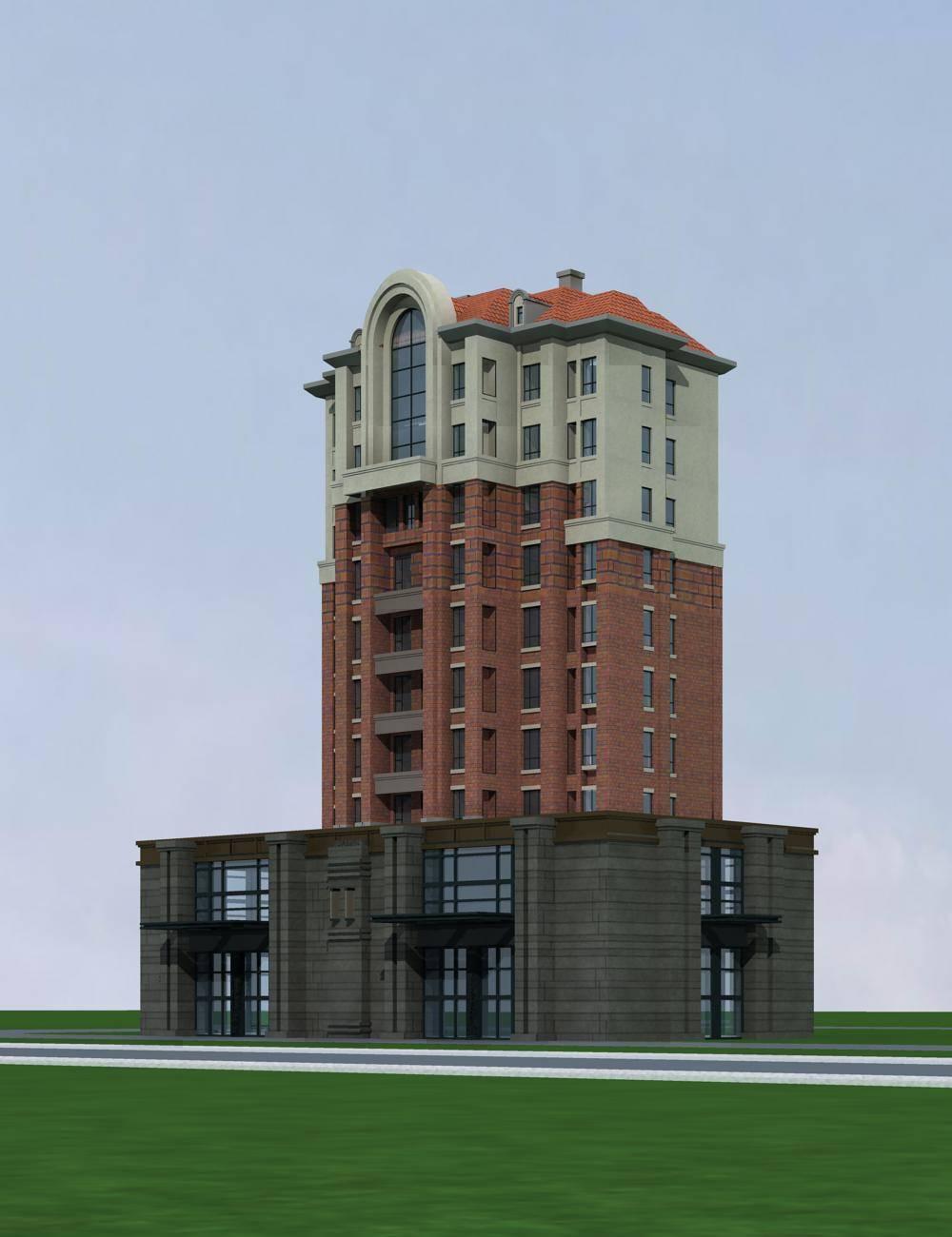 欧式商业住宅楼