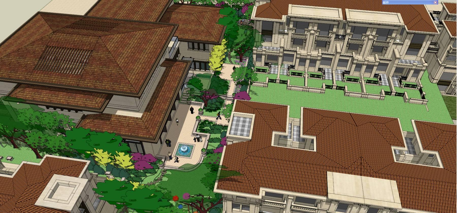 欧式会所庭院