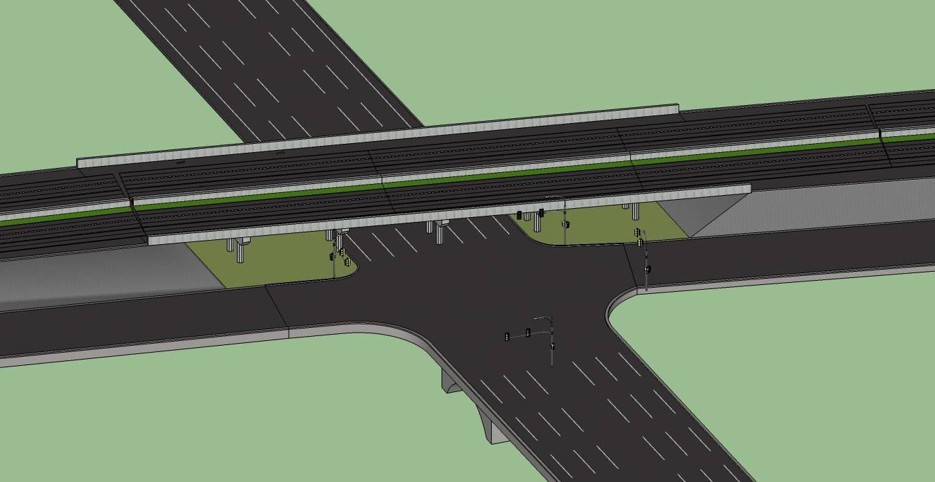 高速公路收费路口