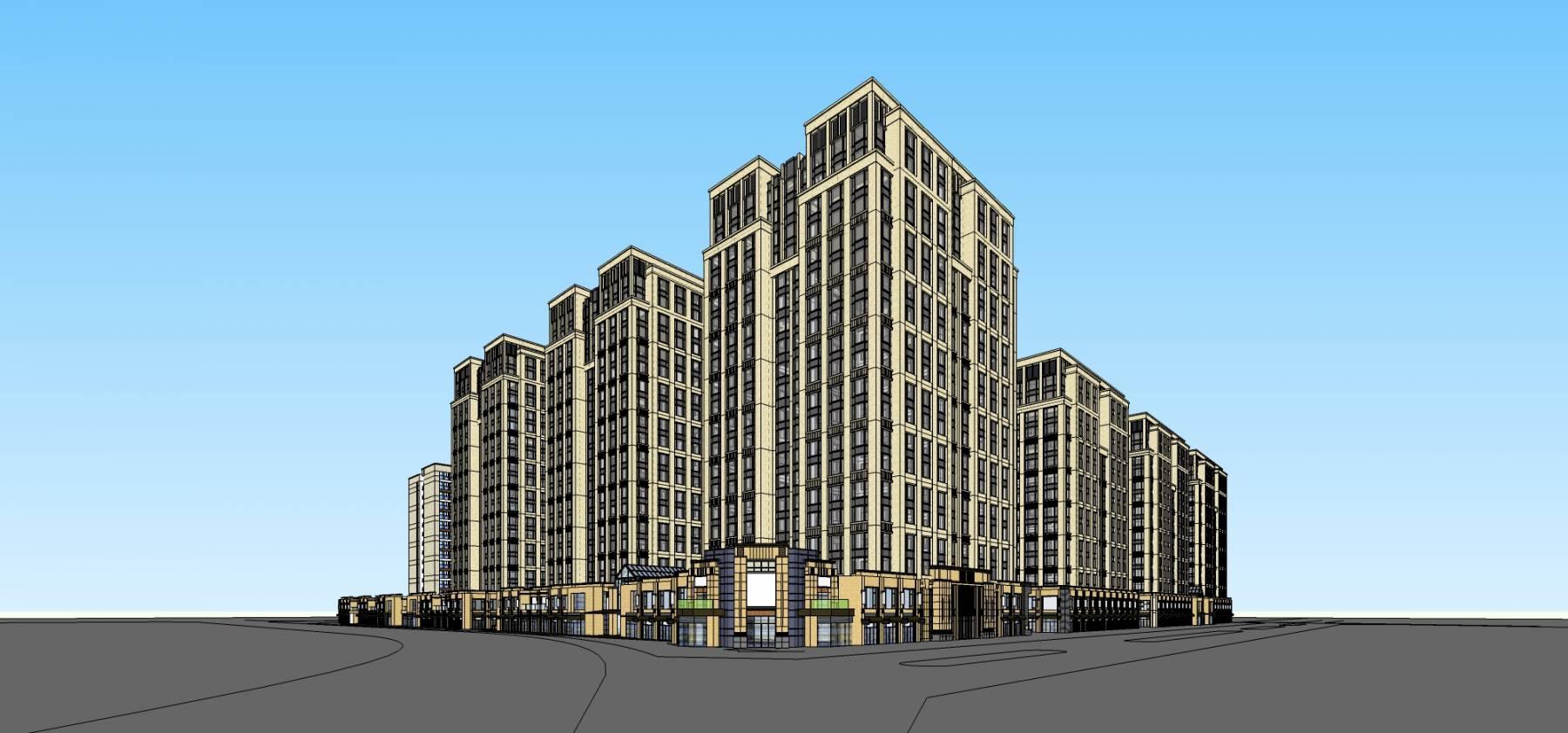 新古典风格商业住宅小区