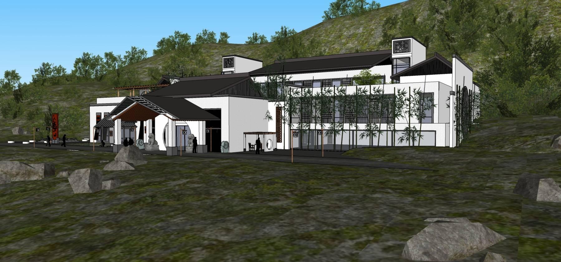 山地中式酒店