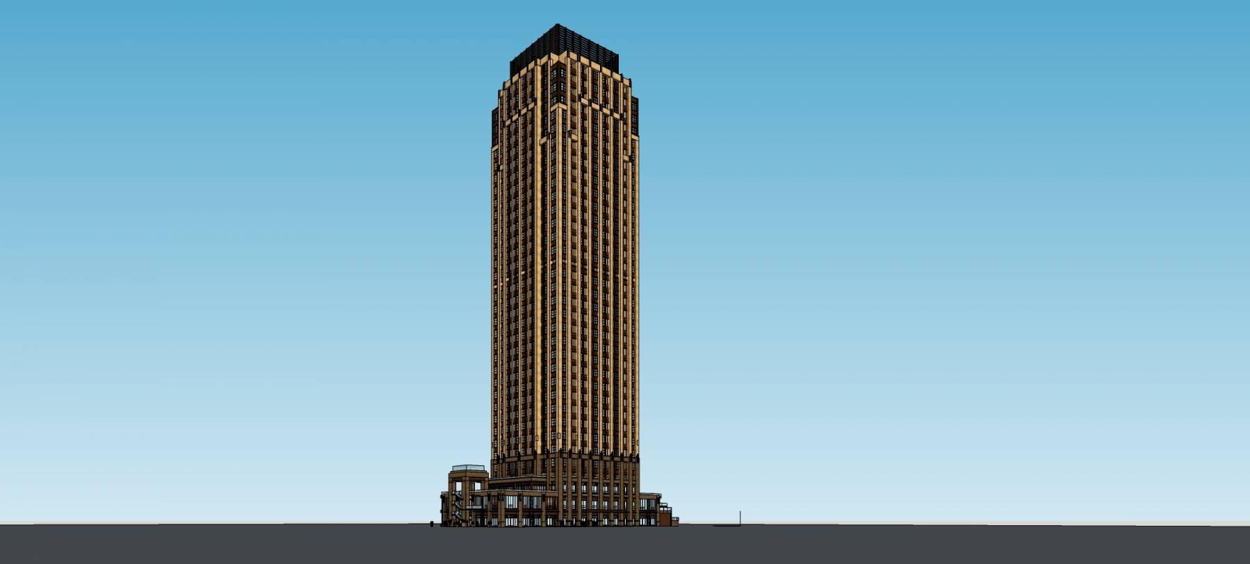 新古典风格超高层住宅