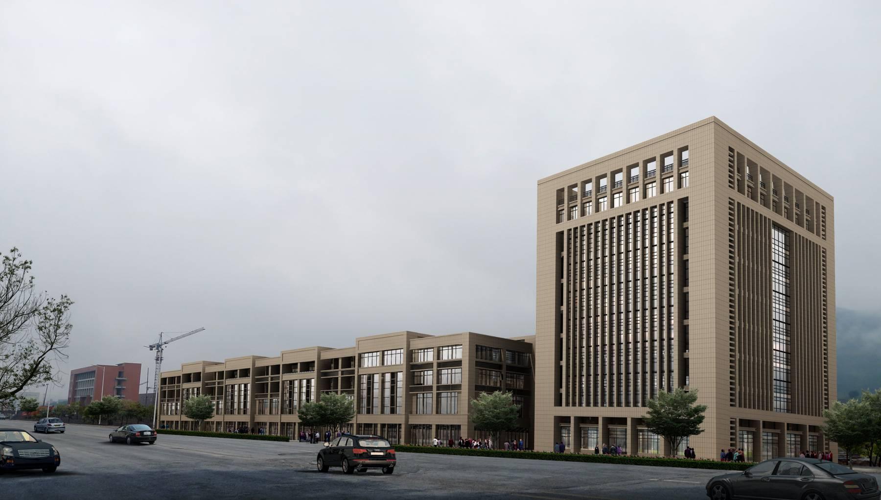 现代办公楼及商业楼