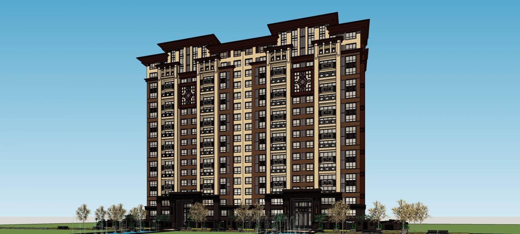 中式小高层住宅公寓