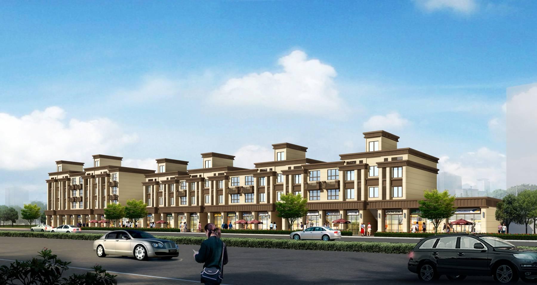 新古典风格沿街商业住宅楼