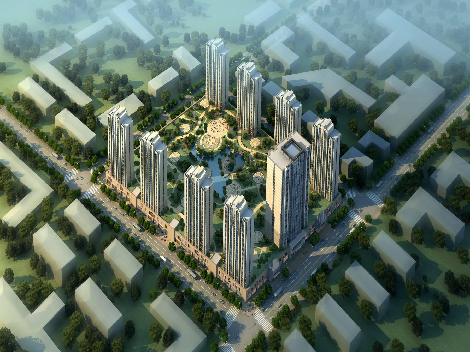 新古典风格高层商业住宅小区