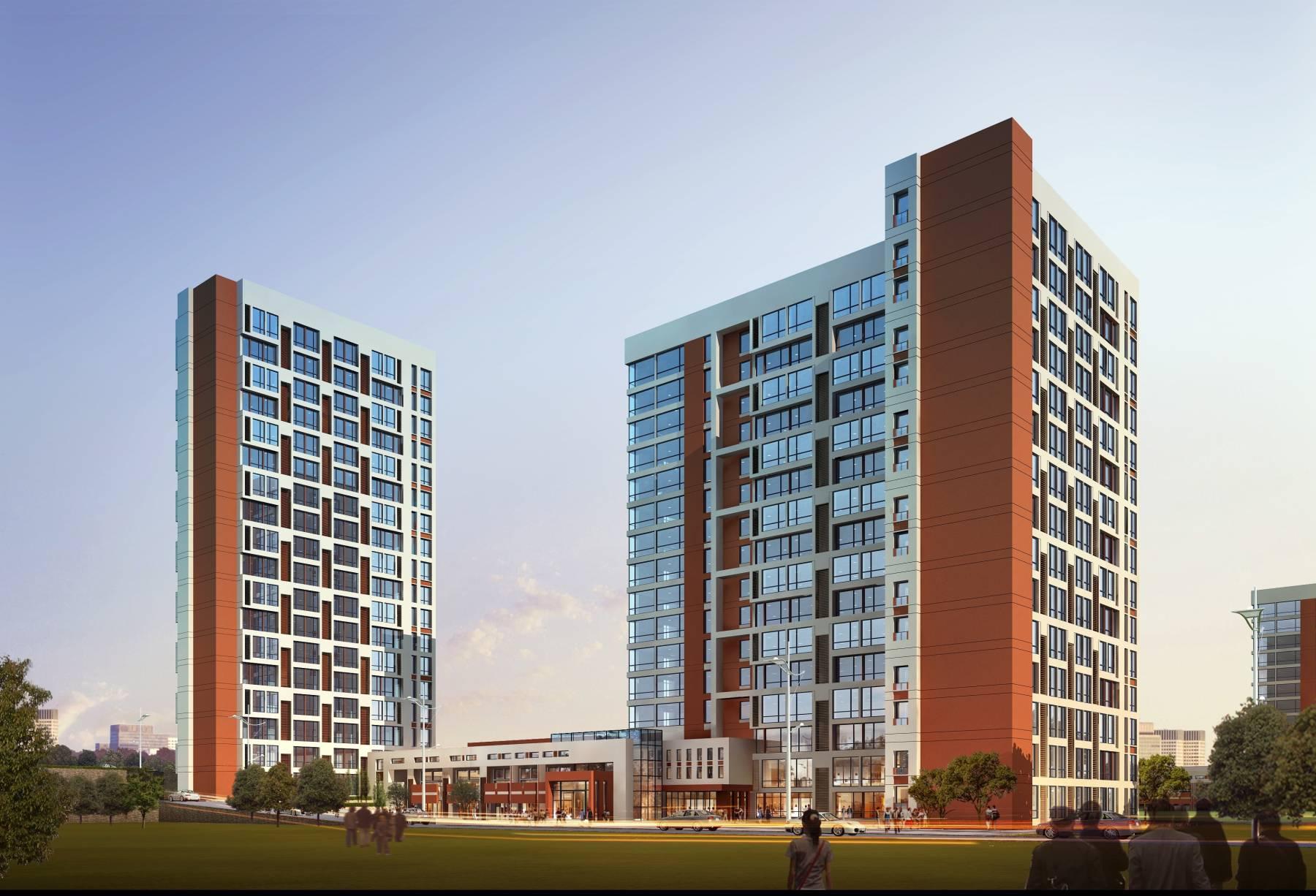现代高层住宅公寓方案三