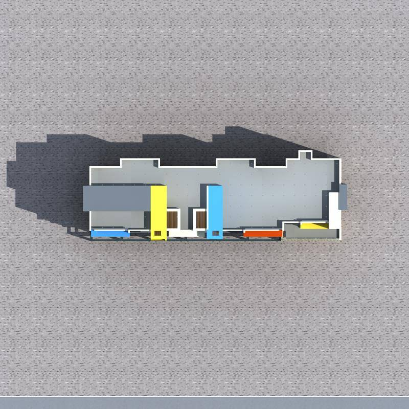 现代多层商业住宅楼
