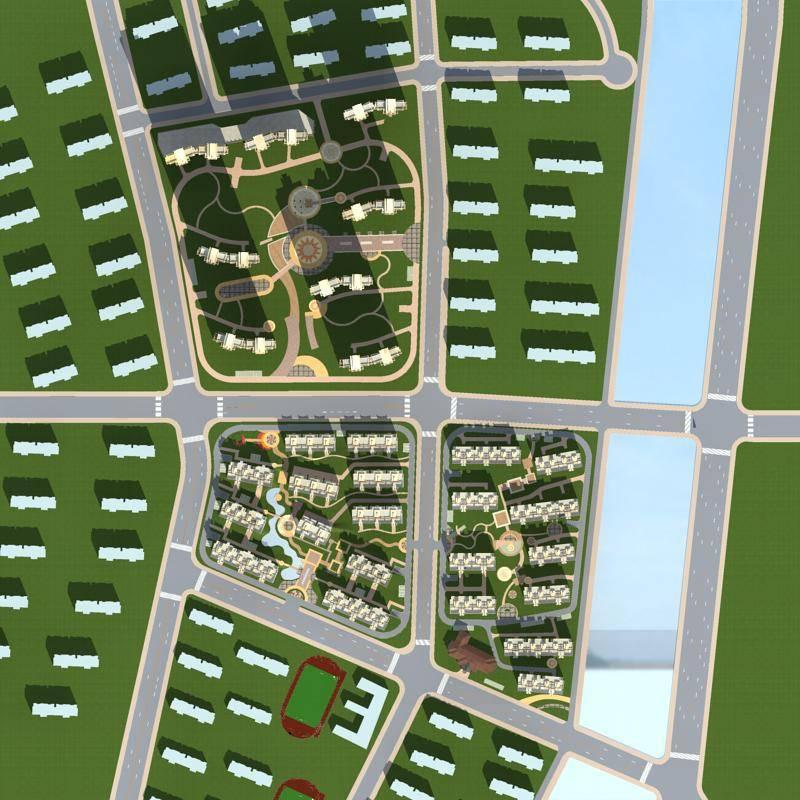 新古典风格大型住宅小区