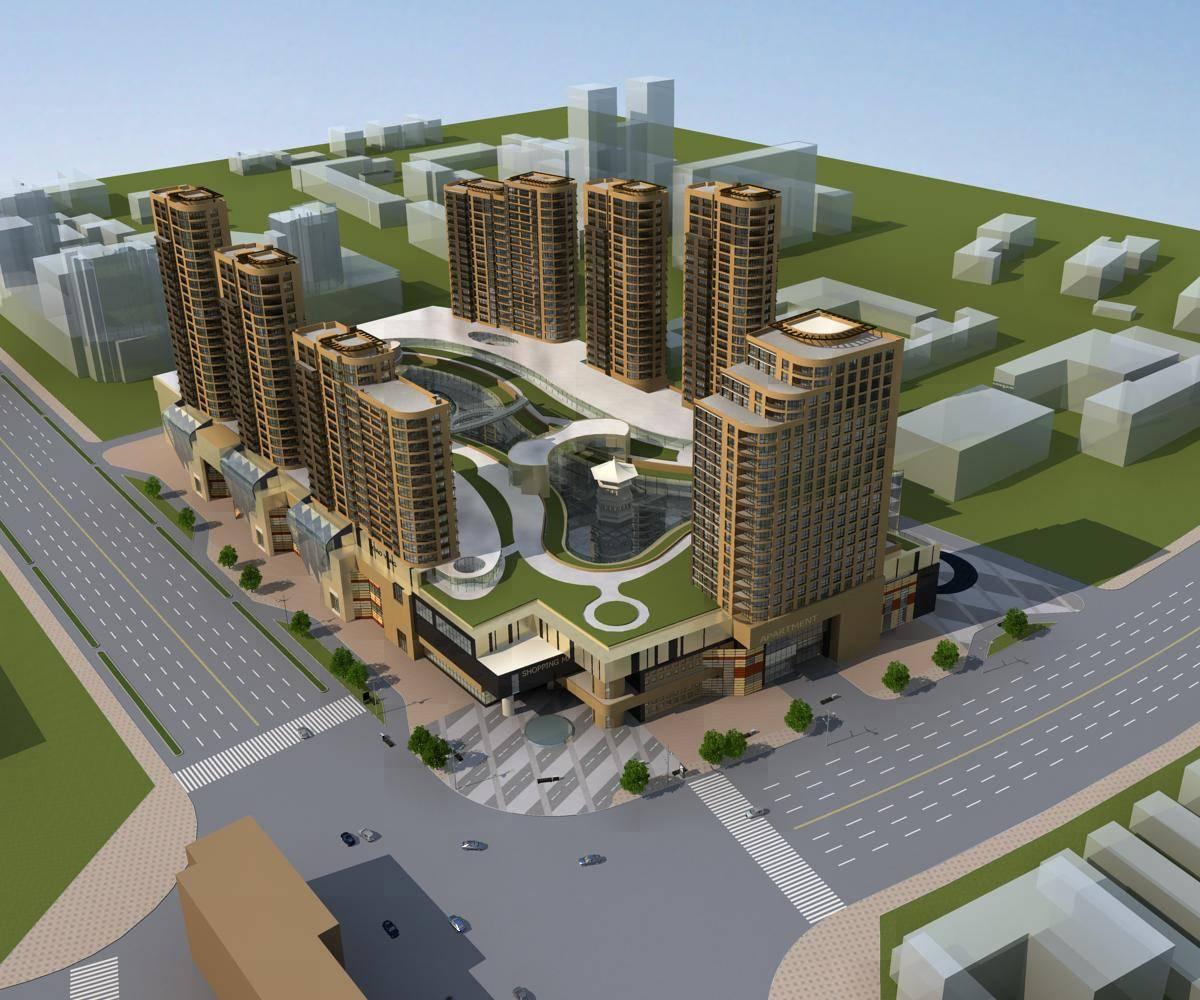 现代大型商业住宅小区