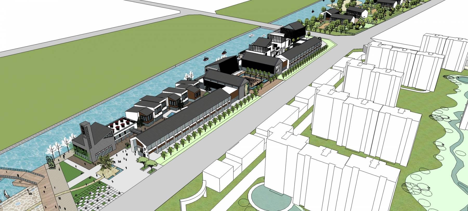 新中式商业街及湖滨公园