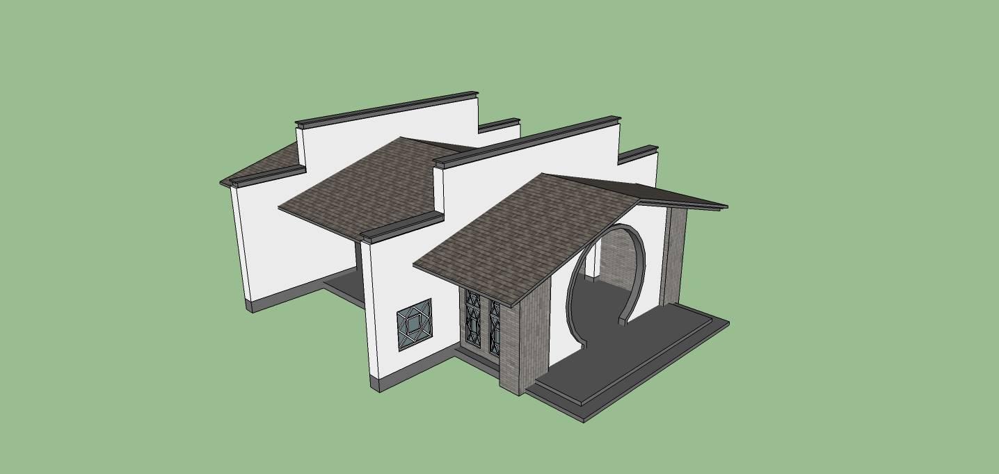 建筑构件-大门入口