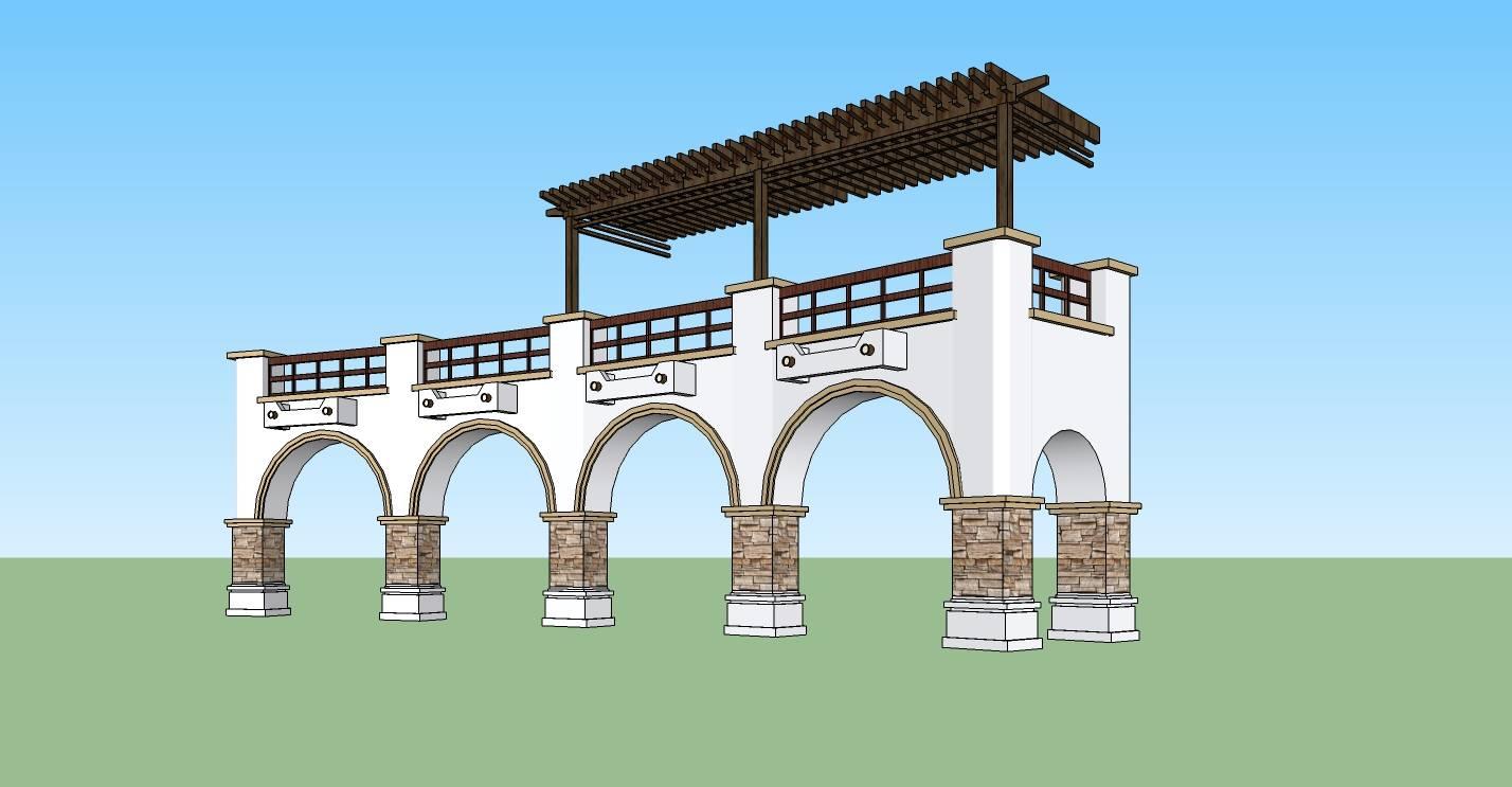 建筑构件-门廊