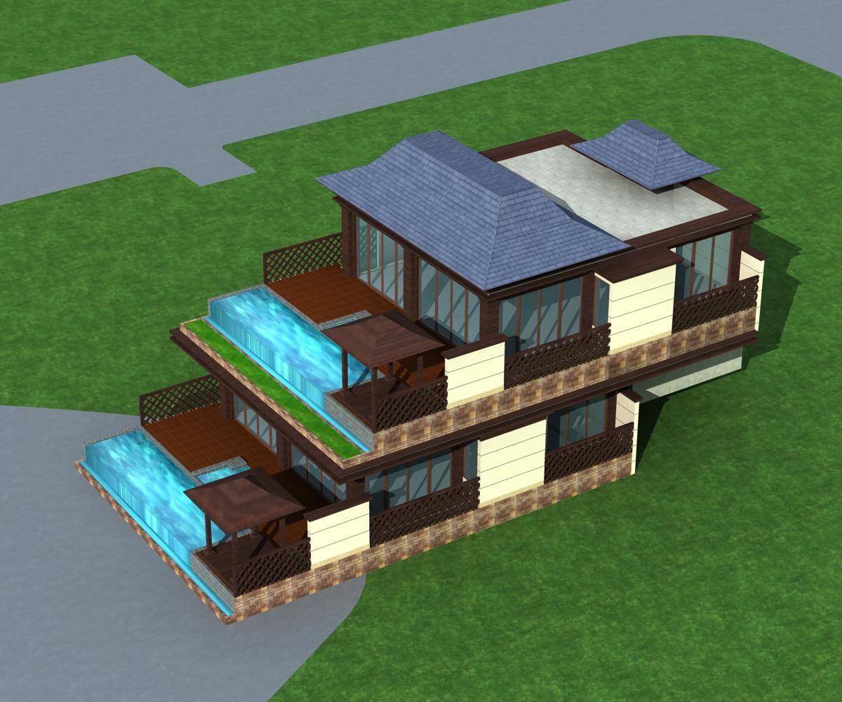东南亚风格山体别墅