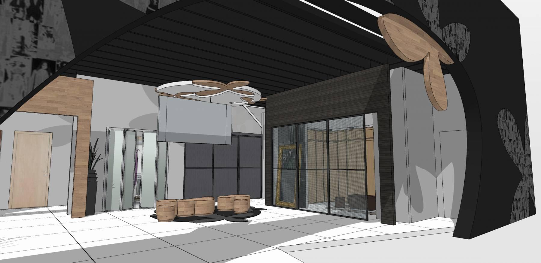 现代风格展厅室内