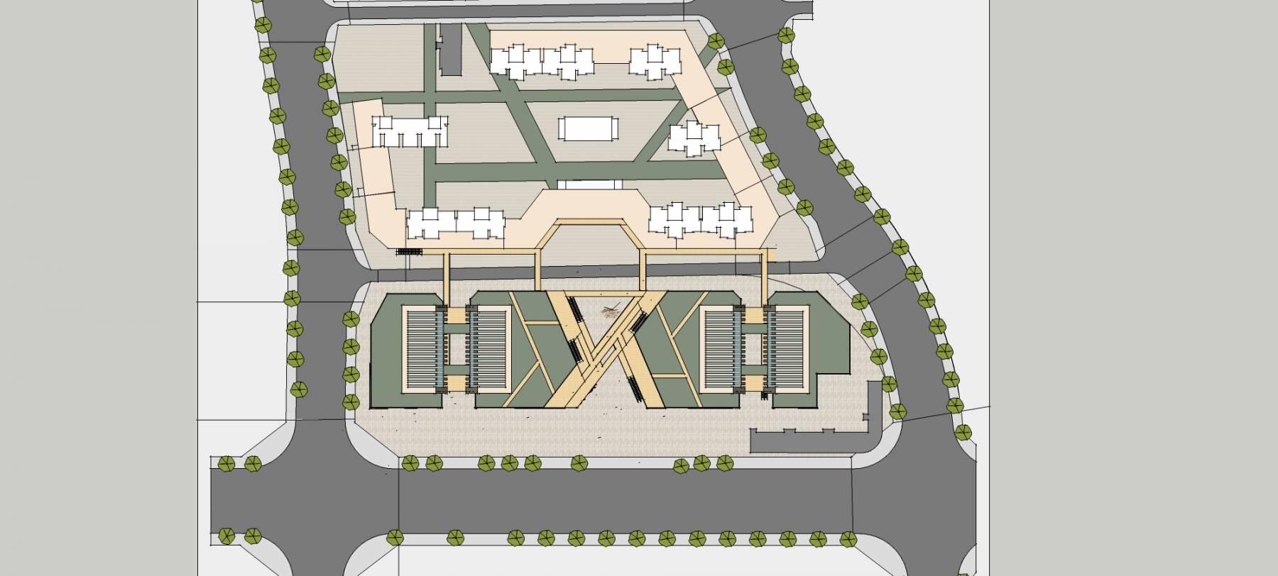 商业综合体双塔概念方案