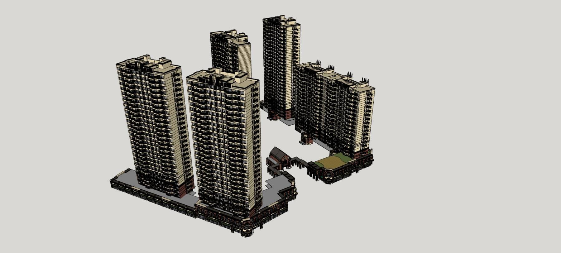 新中式海派风格商业住宅小区