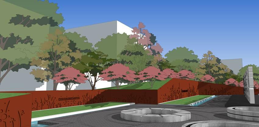 工业园区入口景观设计
