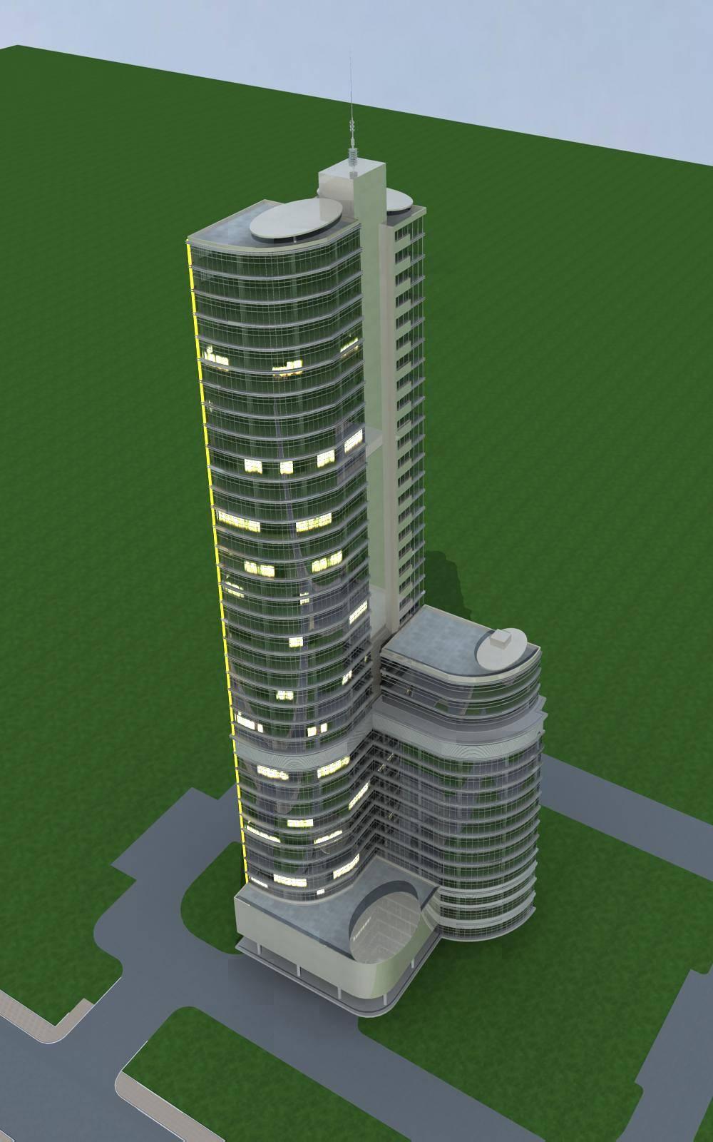 现代超高层综合楼