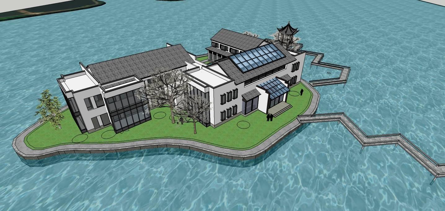 中式湖心会所