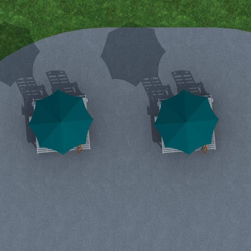 城市家具--躺椅及伞亭