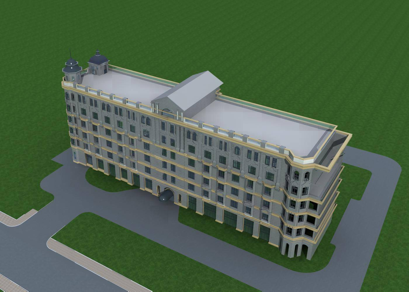欧式多层酒店