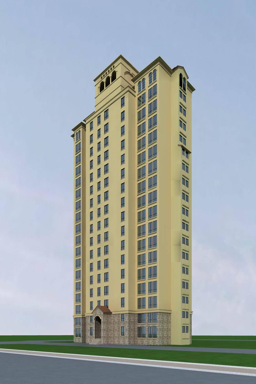 欧式高层住宅楼