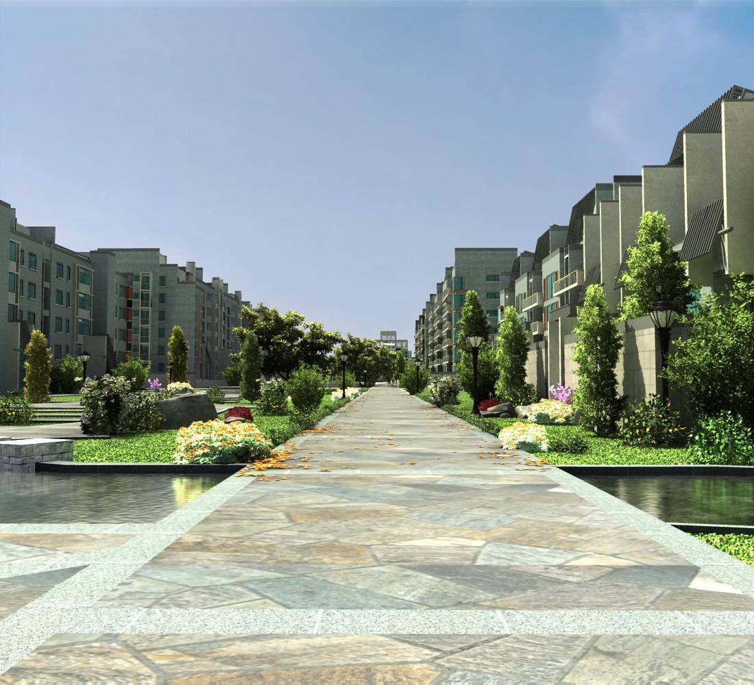 现代小区住宅及景观