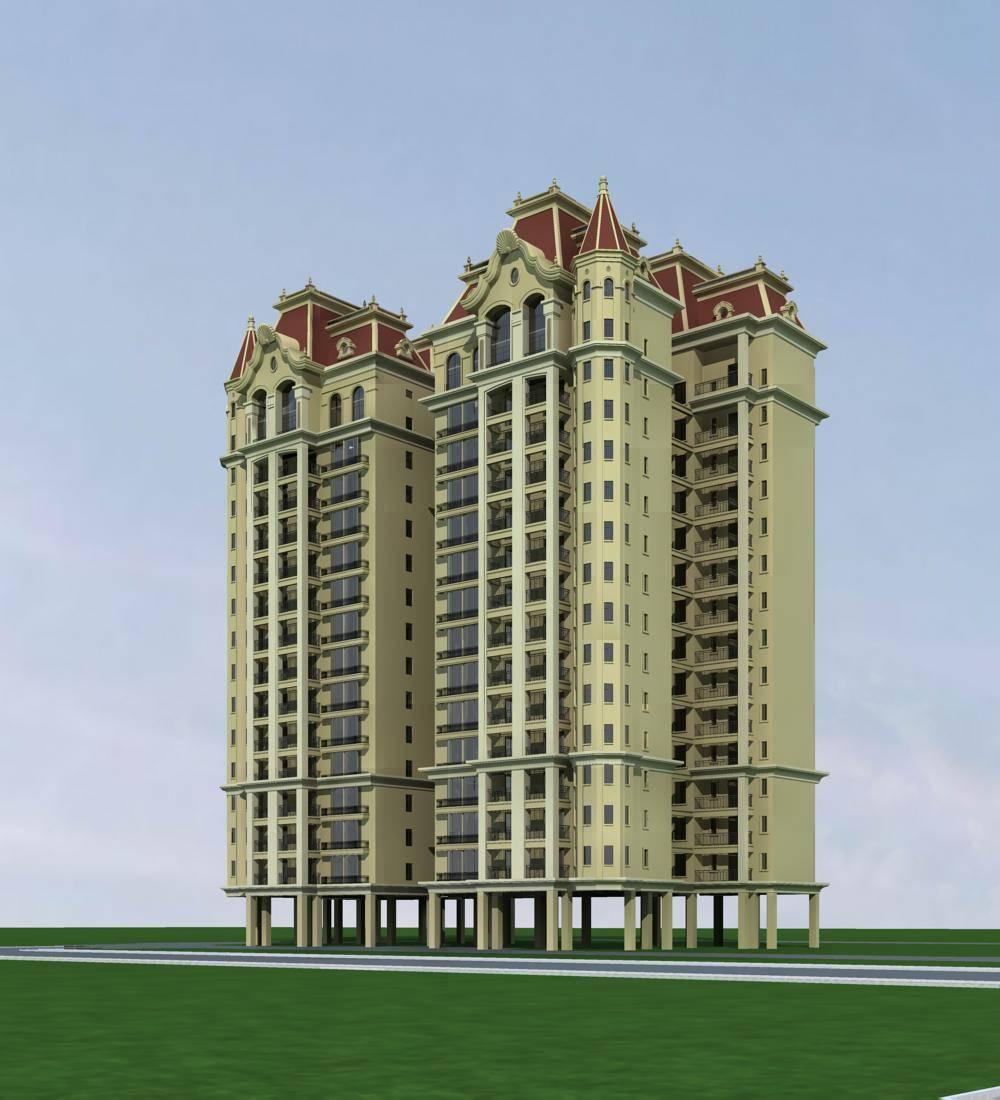 法式高层住宅楼