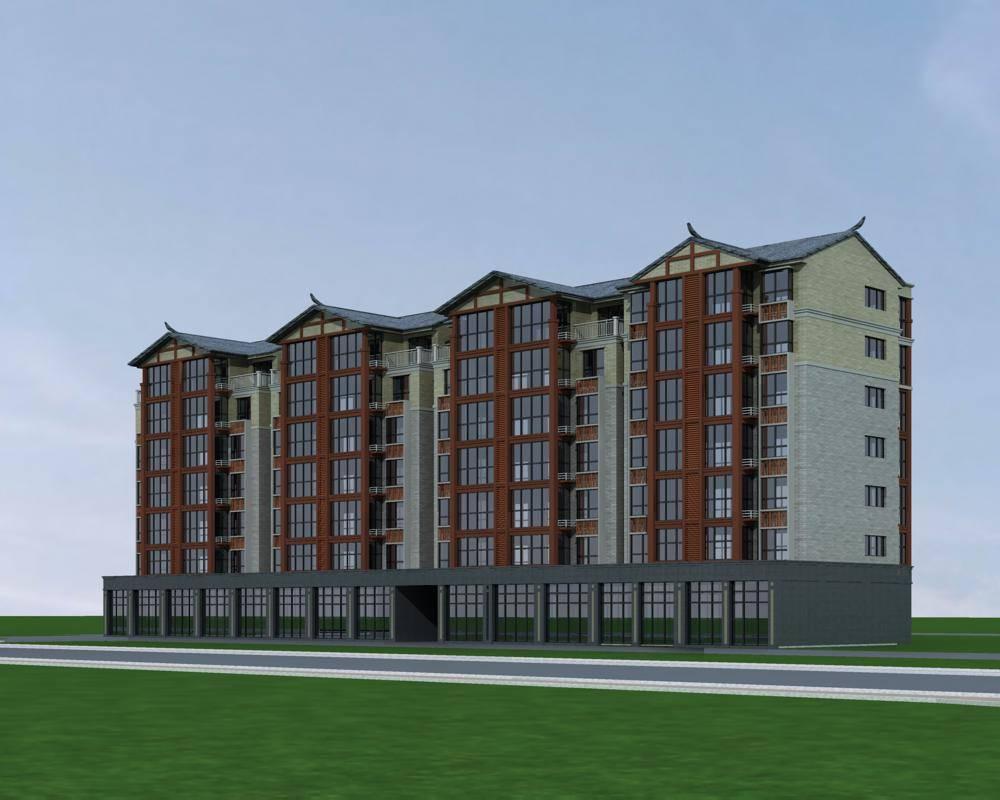 中式多层商业住宅楼