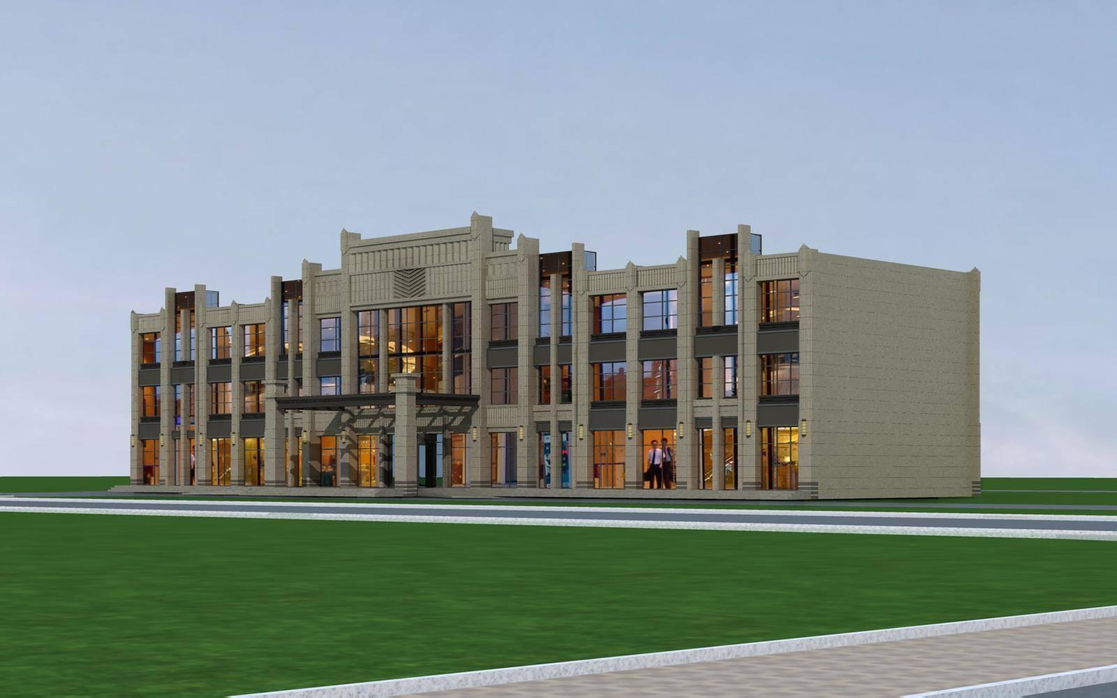 新古典风格多层商业楼