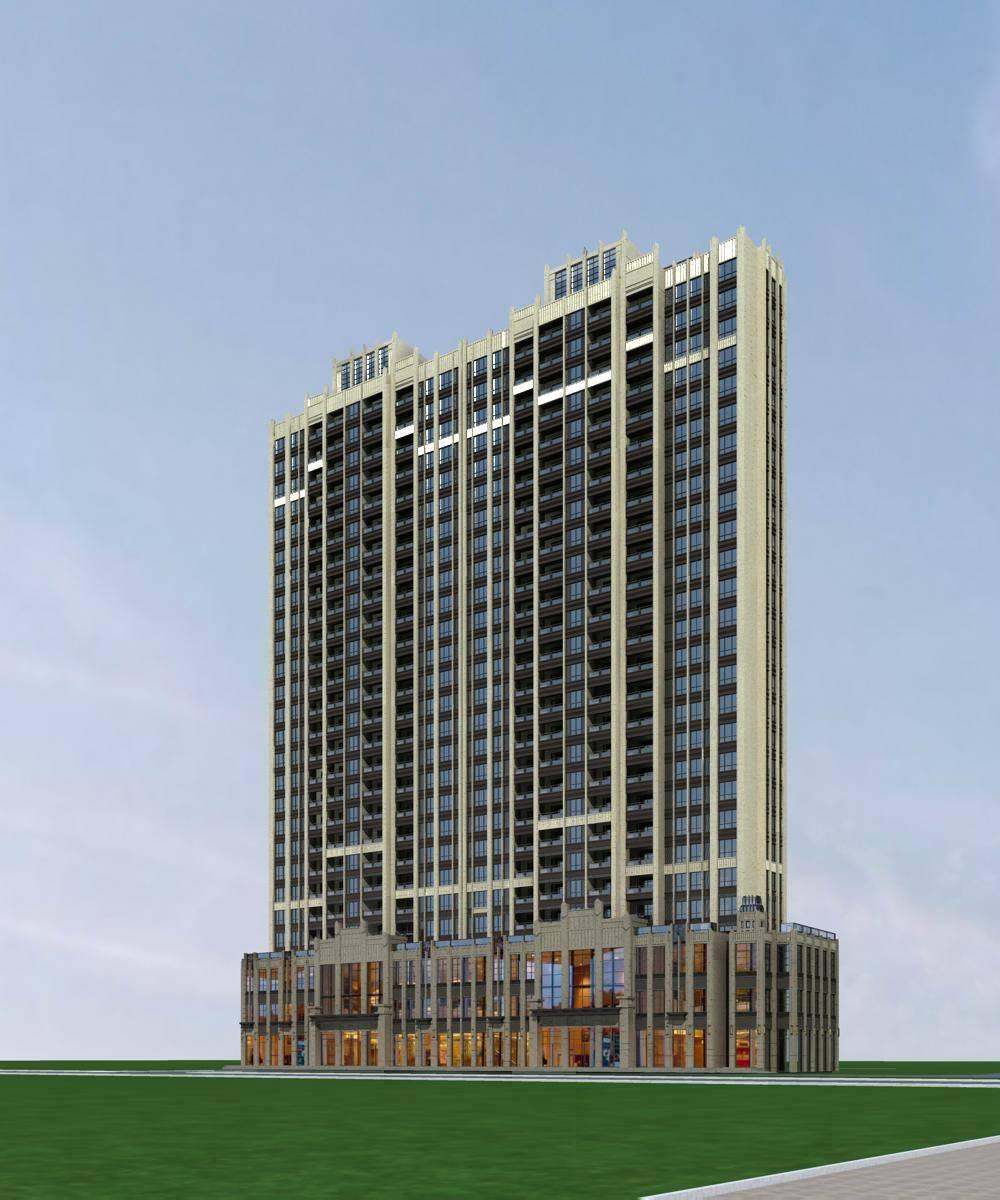 新古典风格高层商业住宅楼