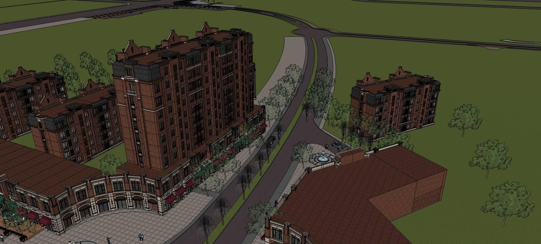 欧式沿街商业及住宅楼