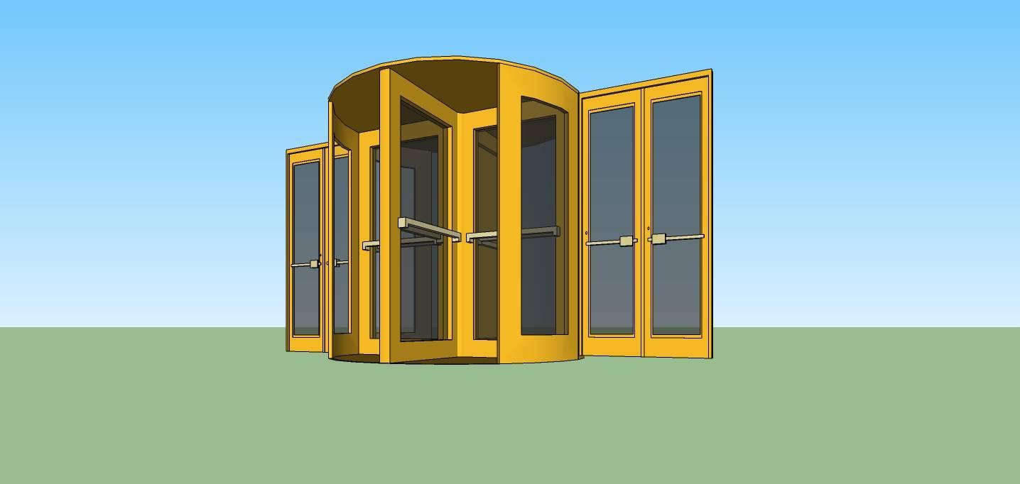 建筑构件-旋转门