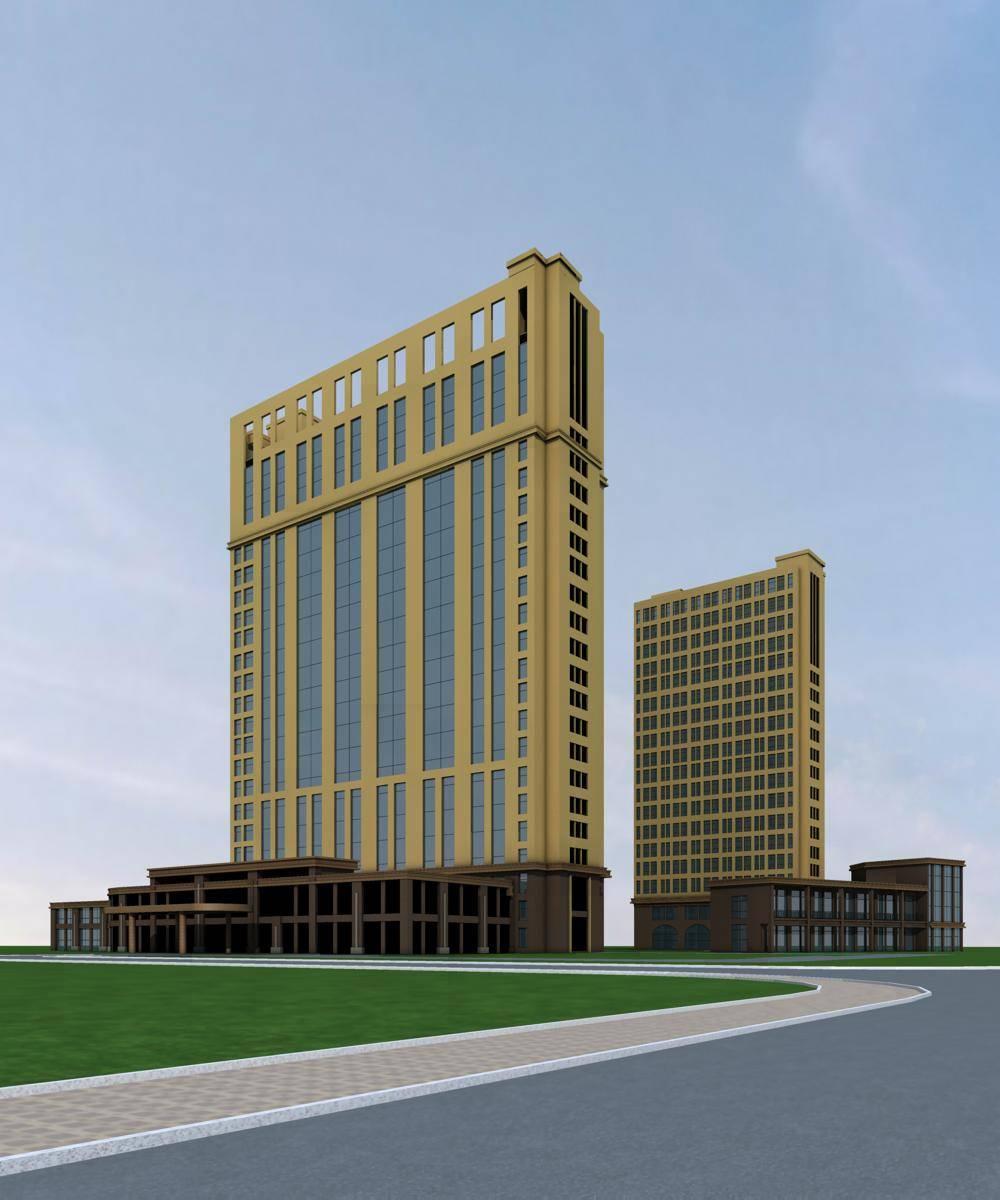 简欧风格高层商业办公楼