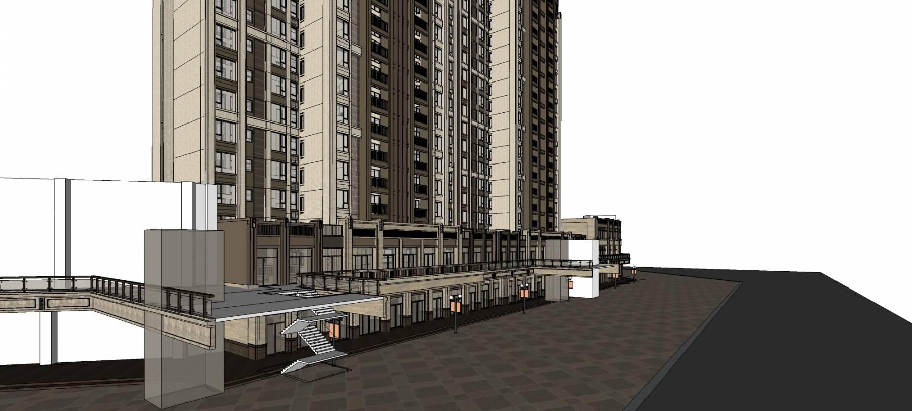 新古典风格沿街商业综合体