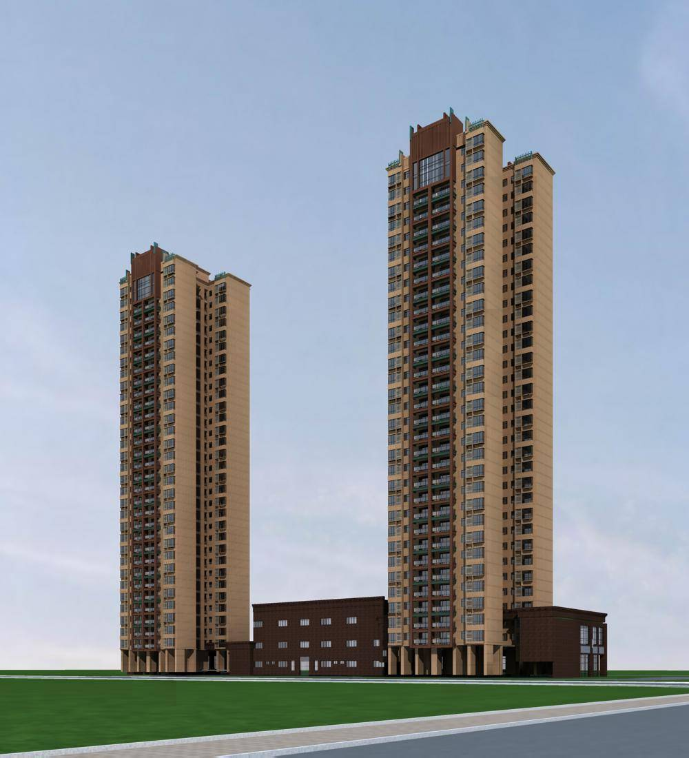 现代高层商业住宅公寓