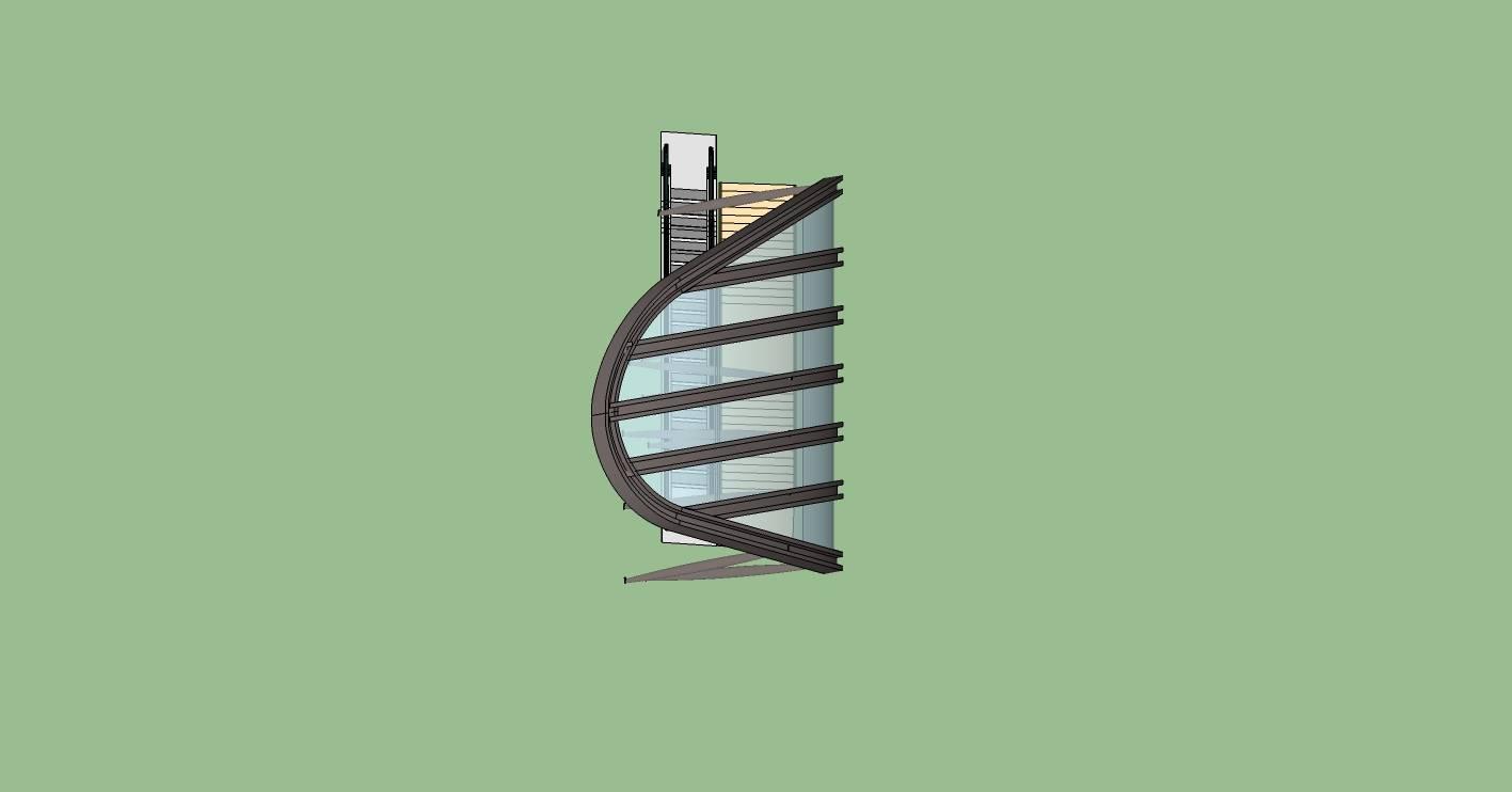 现代风格雨棚及电梯