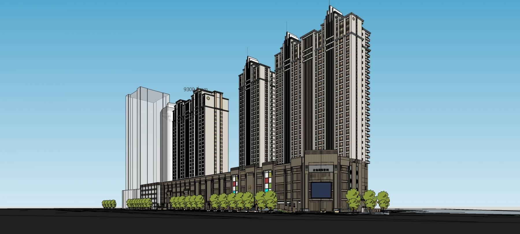 沿街高层商业住宅楼