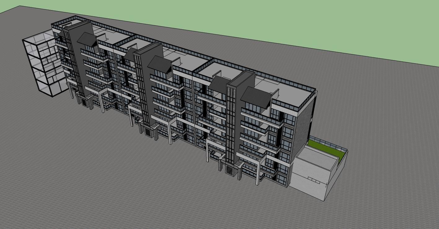 现代中式商业住宅楼