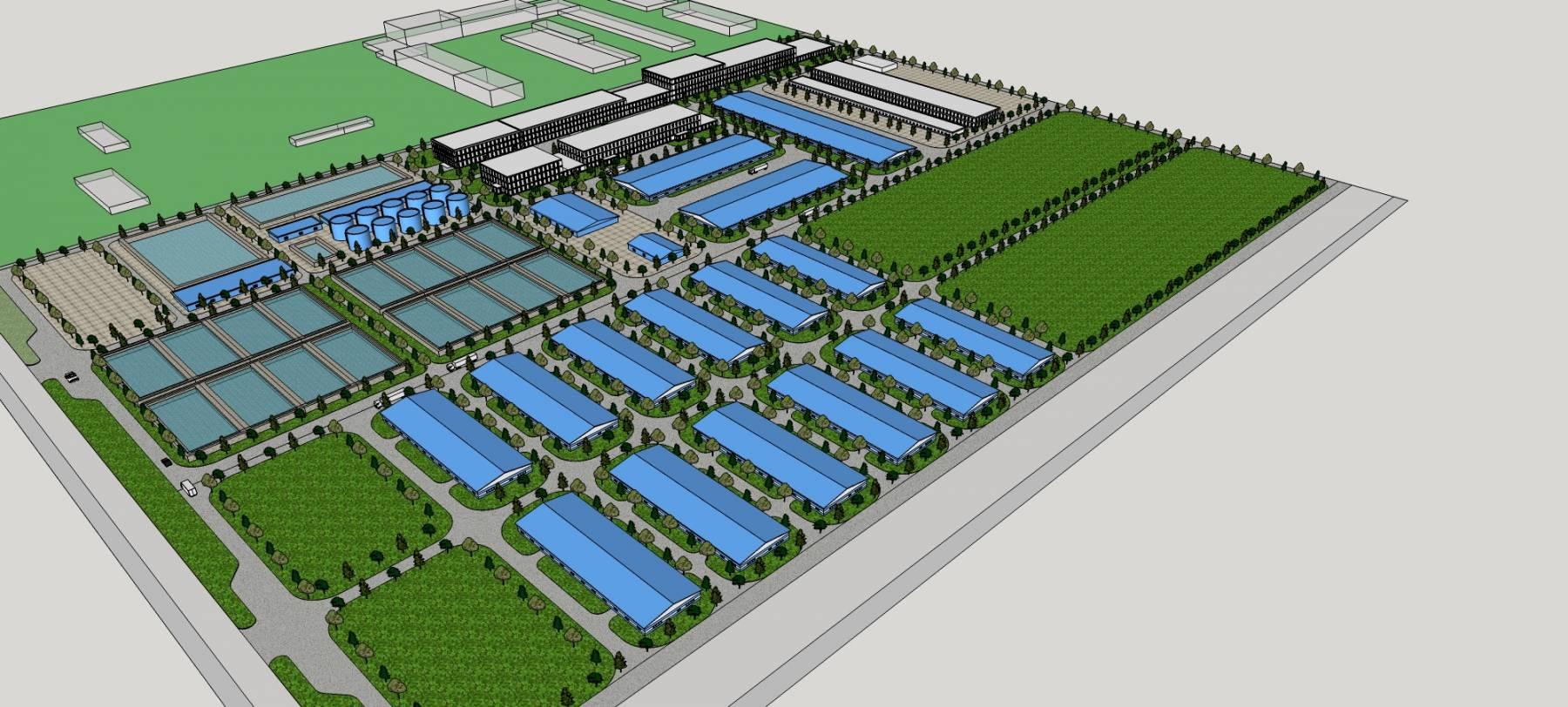现代大型工业园区