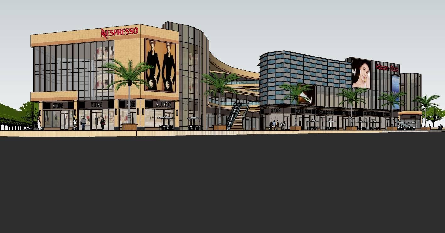 现代大型商场