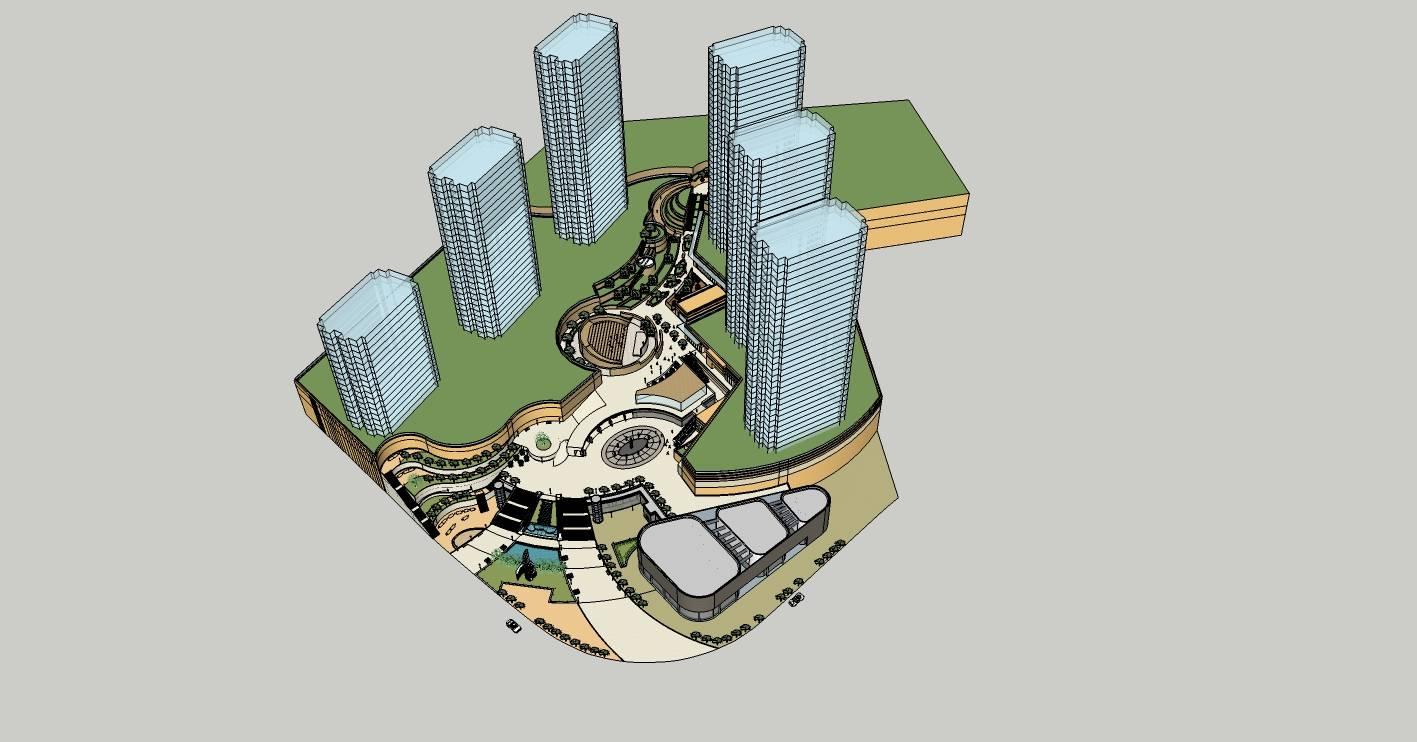 现代商业街景观规划