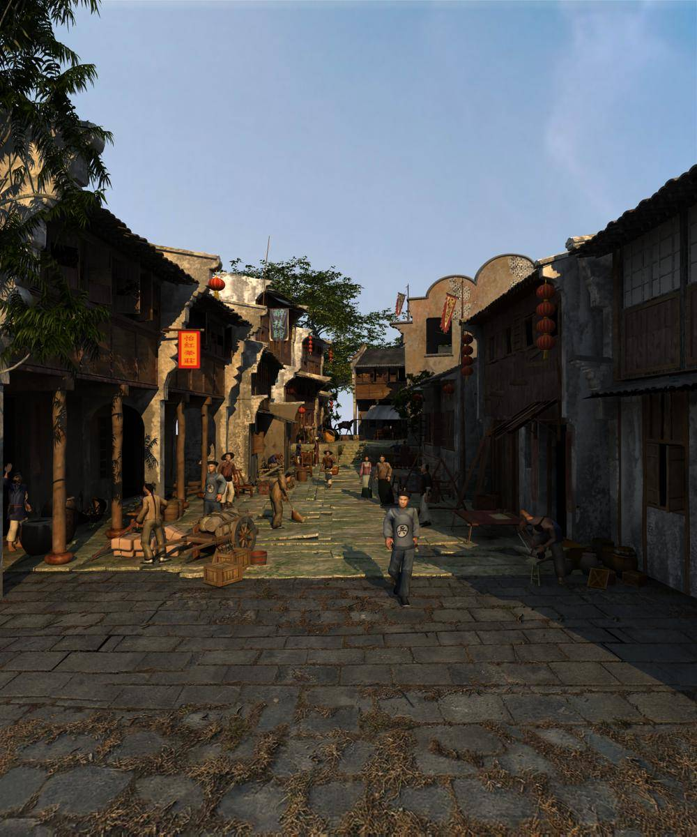 中式老商业街