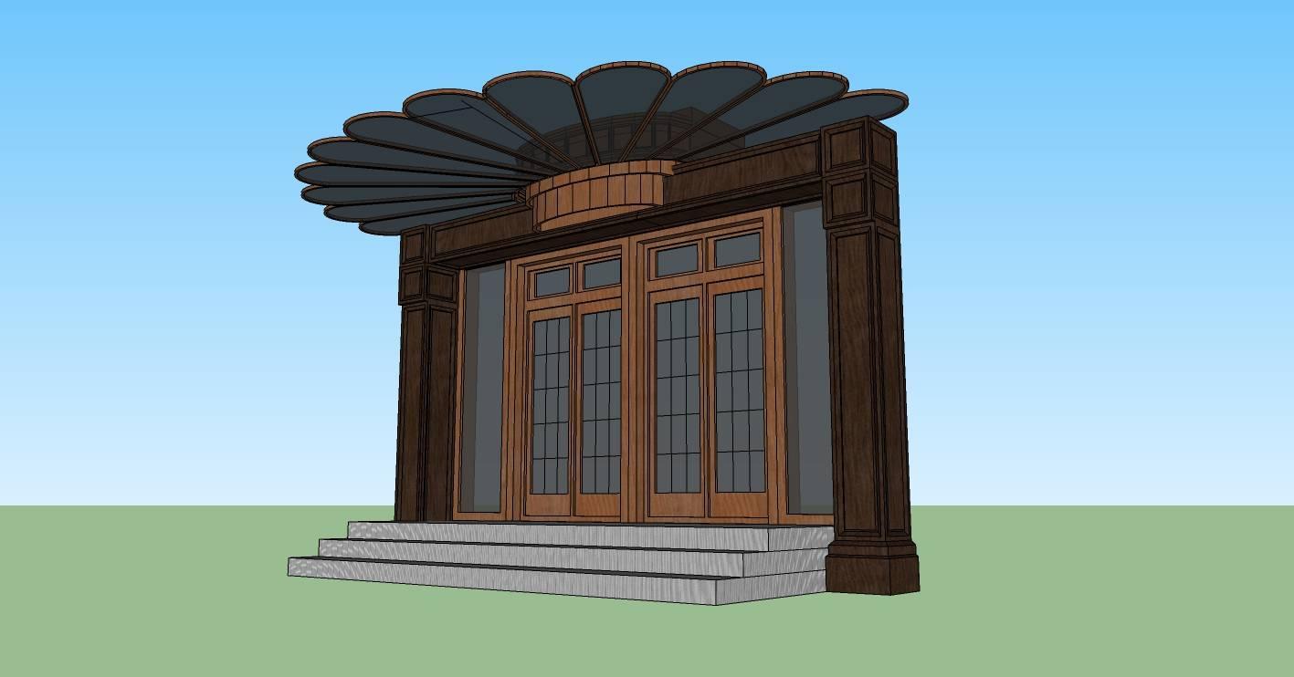 建筑构件-雨棚及大门