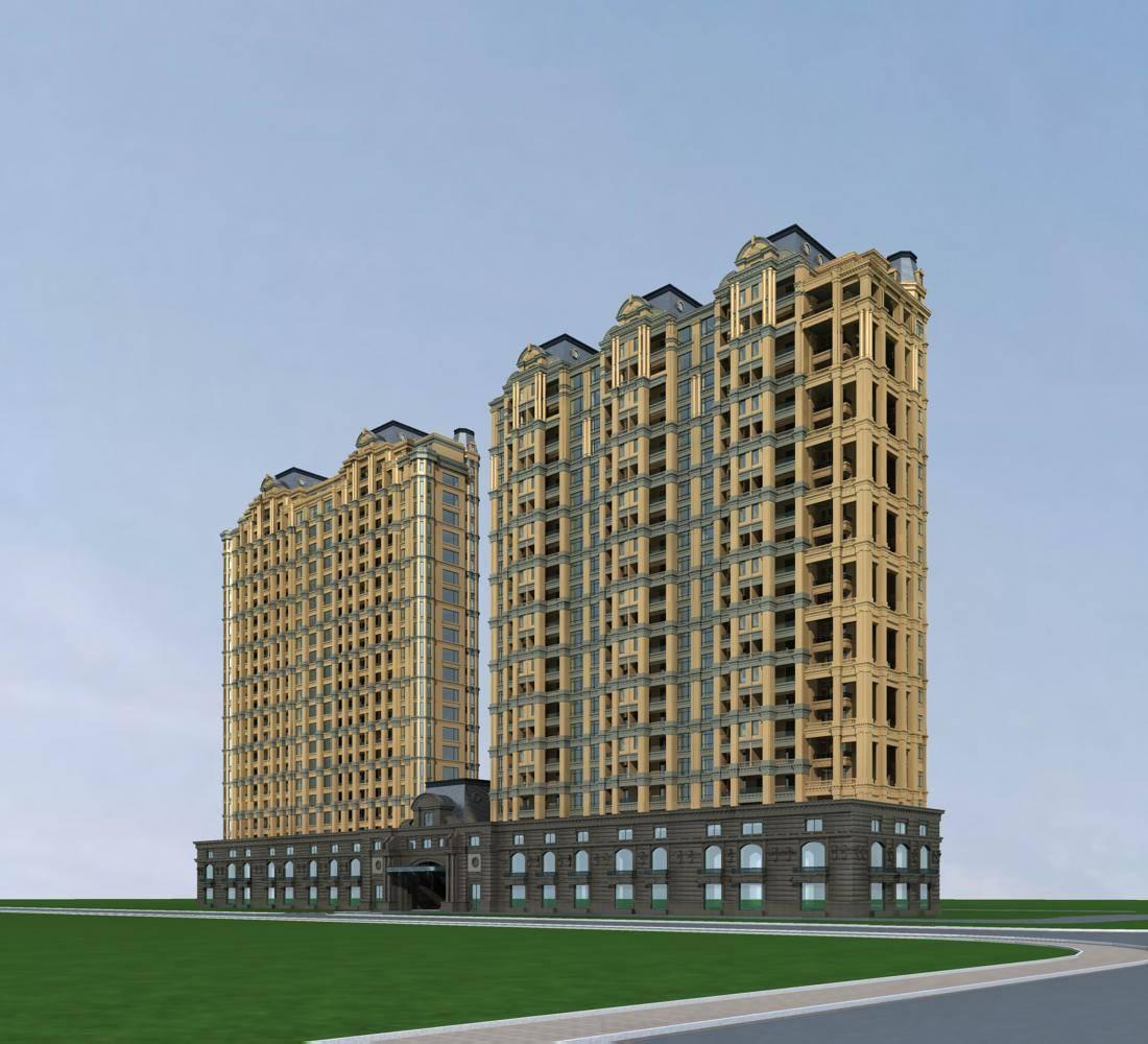 法式高层商业住宅楼