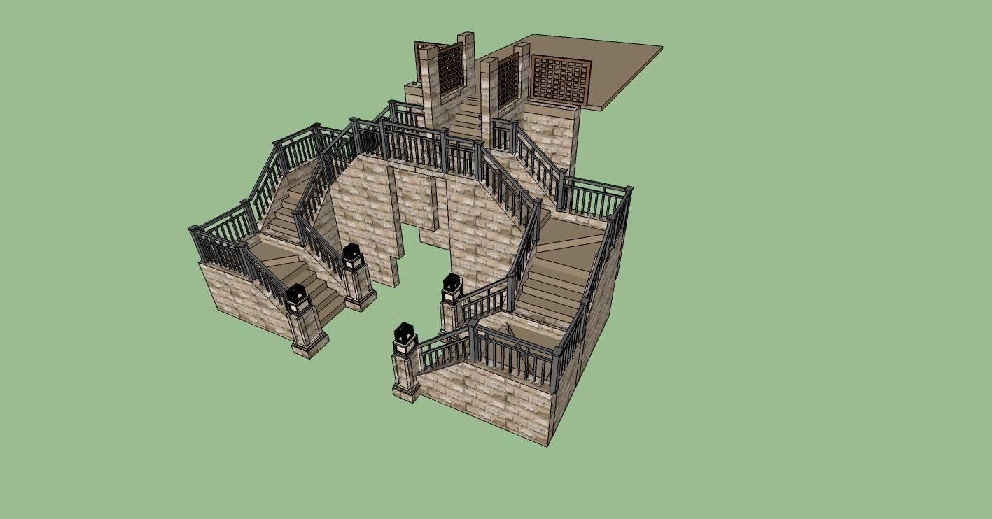 建筑构件-入户楼梯
