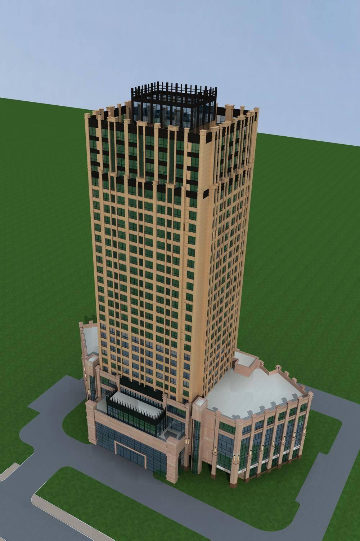 新古典风格高层办公楼