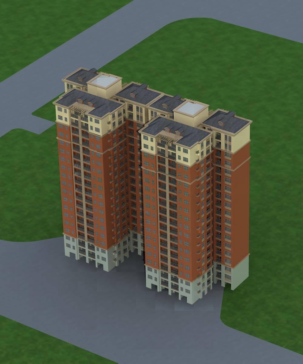 简欧风格小高层住宅楼